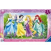 Ravensburger 06047 - Puzzle a quadro, Le passeggiate delle principesse, 15 pezzi