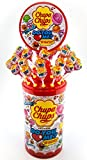 Chupa Chups Do you love me? Lutscher-Dose 100 Stück, Lolli-Aufsteller mit drei fruchtig leckeren Sorten