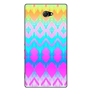 EYP Psychdelic Triangles Pattern Back Cover Case for Sony Xperia M2 Dual