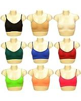 Sport BH , Sporttop, Nahtlos, Form Bustier Top ohne Bügel, Ahh Bra Wohlfühl-BH BH Microfaser Figur (#DT)