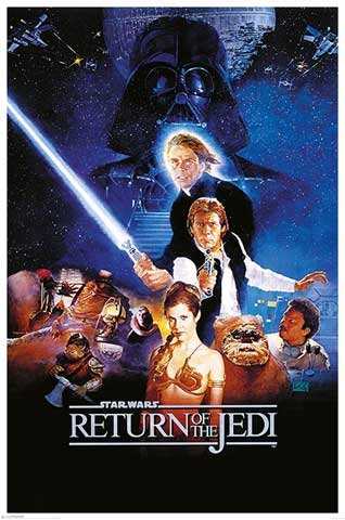 Star Wars Poster Return Of The Jedi (68,5cm x 101,5cm) + Original tesa Powerstrips® (1 Pack/20 Stk.) (Original Star Poster Wars)