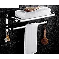 In acciaio inox portasciugamani riscaldato/WC cremagliera pieghevole/Barra di tovagliolo/ bagno (Porta In Acciaio Inox Indietro Bar)