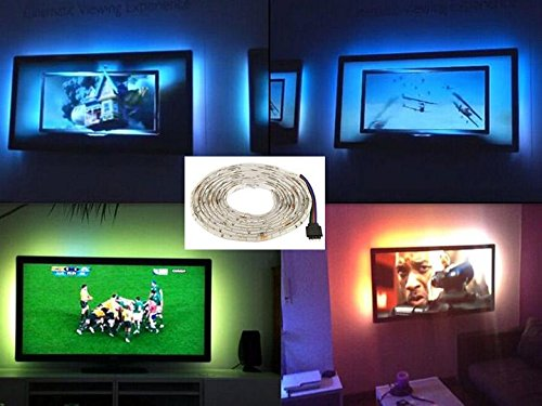 Tv led posteriore di illuminazione kit 3m multicolore rgb tv led