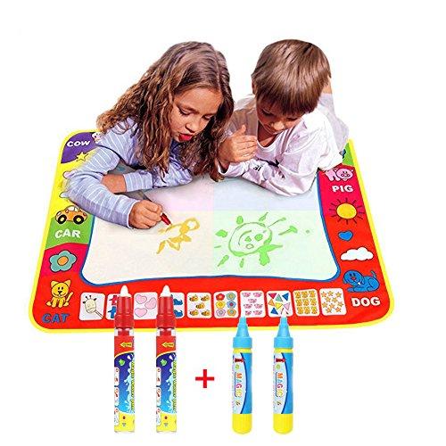Doodle Magic Tapis De Eau Dessins Multicolore 46CMx29CM,TQP-CK Maxi Tapis Tapis de dessin Doodle + 4 Stylos pour Ardoise Magique