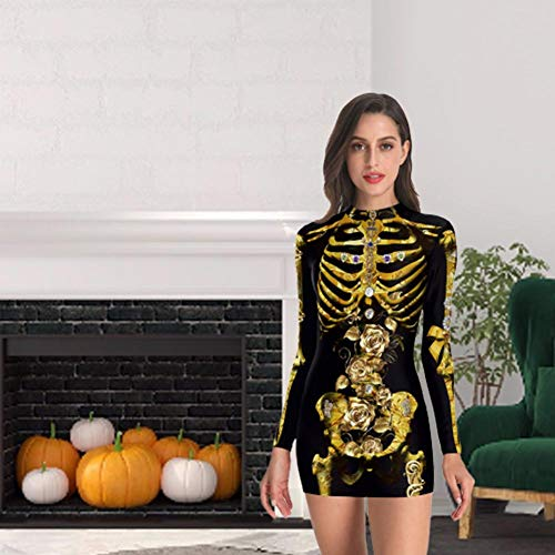 Ganmaov Mädchen Sexy Enges Halloween Kleid, Halloween Kostüm Cosplay Kleid - S, M, L, XL, 2XL - Sexy Incredibles Kostüm