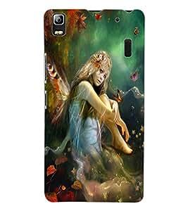 ColourCraft Butterfly Girl Design Back Case Cover for LENOVO K3 NOTE