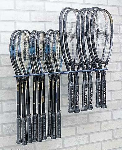 Squash- und Tennis-Halterung für 20 Schläger