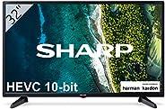 """Sharp 32CB3E - TV 32 Pulgadas 32"""" (resolución 1368 x 720, 3X HDMI, 2X USB) Color"""