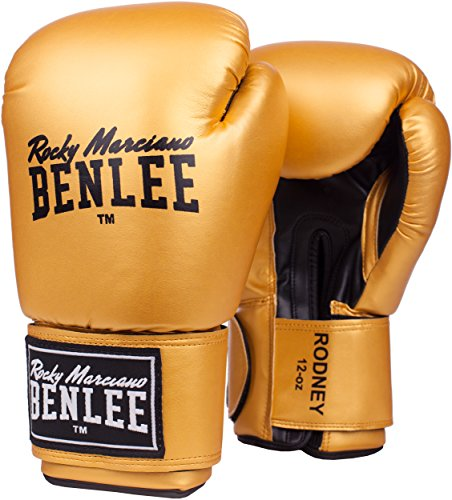 BENLEE Rocky Marciano Boxhandschuhe Training Gloves Rodney, Gold/Black, 10