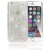 NALIA Handyhülle für iPhone 6 6S, Glitzer Sterne Slim Silikon-Case Back-Cover Schutz-Hülle, Glitter Stars Sparkle Handy-Tasche Dünnes Bling Strass Etui für Apple iPhone 6S 6, Farbe:Colorful