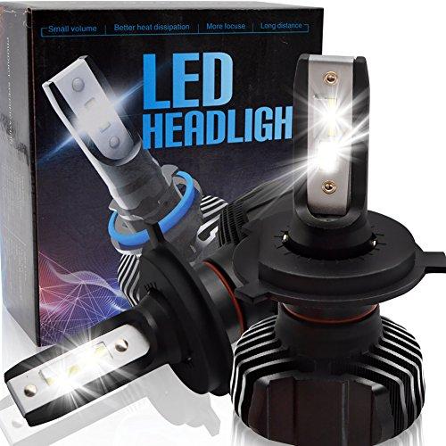 BeiLan Lampadine H4 HB2 9003 LED per auto kit di conversione faro per auto con chip LED 32pcs Seoul-CSP 4500LM 6500K Super Bright White Light DC9-32V Sostituire per luci faro HID faro
