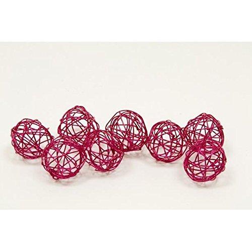 Boule déco métal dia. 2cm (x 12) - Fushia