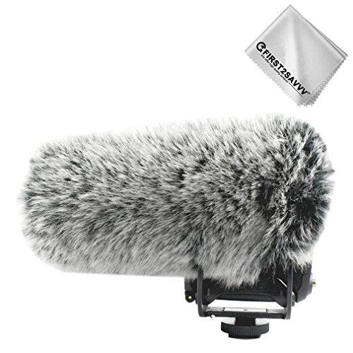 FIRST2SAVVV Microfono Parabrezza Copertura Antivento Shell Cuffia Antivento in Pelliccia Sintetica per Microfoni a Fucile per Rode VideoMic PRO+.VideoMic PRO R+ Microphone TM-DM- VideoMic PRO+-A11