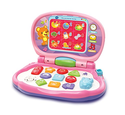VTech- Activity con Forma de Ordenador, Color Rosa (3480-191257)