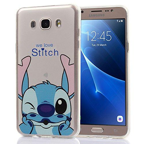 Funda transparente de silicona con diseño de dibujos animados Disney para  Samsung Galaxy J7 (2016), de la marca VComp-Shop®