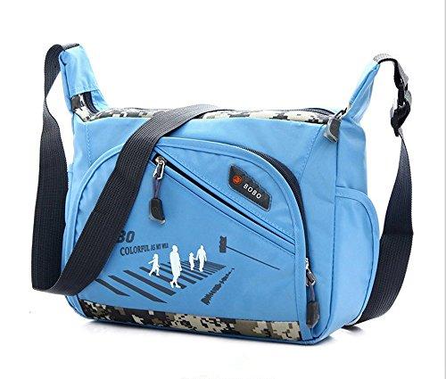 Wewod , Borsa Messenger  Donna, nero (Multicolore) - D-50 blu