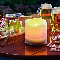 """'""""luminoso LED luce solare,& # x; manico in plastica robusta costruzione in candela design& # x; 1x giallo LED con luce tremolante& # x; max. Tempo di illuminazione: 6ore& # x;; Crystalline Solar Panel& # x2022; fornito ..."""