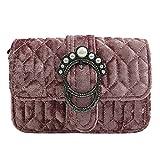 Onfashion Damen Frauen Rosa Winter Samt Clutches Abendtaschen Handtaschen Geldbeutel Mädchen Pink Mit Perle