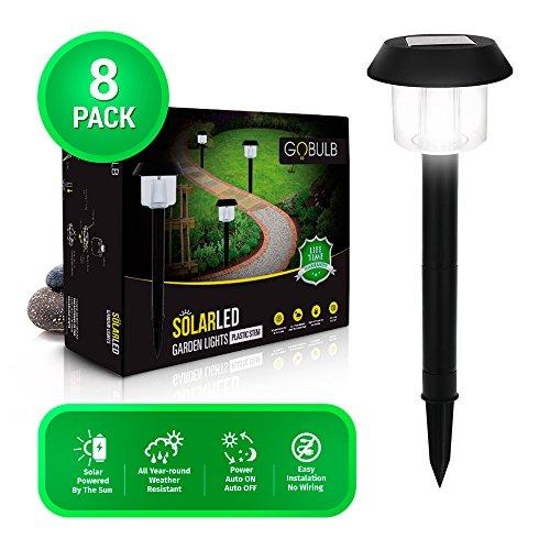 Solar Garden Lights Outdoor, Waterproof Solar Powered Durable Pathway, Walkway, Patio and Landscape Led Lighting 8-Pack