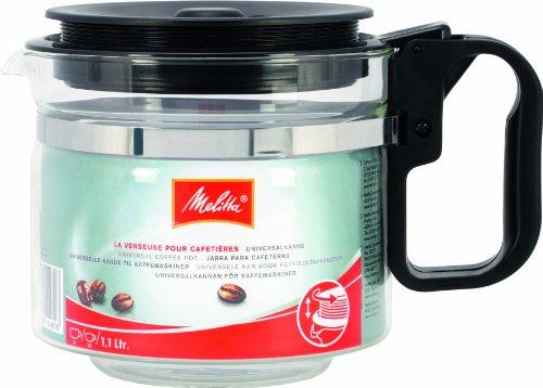 Melitta Verseuse en Verre Universelle, Capacité 1,1 L, pour toutes les Cafetières à Filtres, Noir