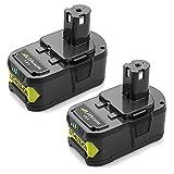 Batterie de rechange pour Ryobi rb18l50Lithium 18V, 5,0Ah +, 2pièces, noir, 5133002433pour Ryobi Coupe-bordure, taille-haie ou Visseuse sans fil avec
