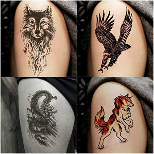 WSFST Wasserdichter Tattoo-Aufkleber Tattoo Aufkleber Wasserdicht Männlich Blume Arm Tattoo Tattoo Aufkleber 10 Tattoo Sets