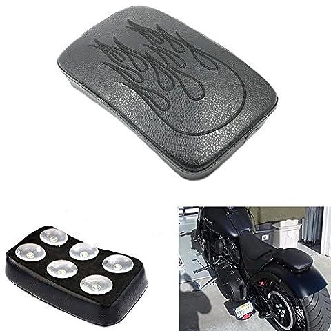 Alpha Rider Motorrad 6 Saugnäpfe Sattel Hinten Passagiersitz Pillion Pad für Harley Dyna Sportster Softail Touring XL 883 1200