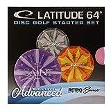 Latitude Disc Golf para Principiantes Starter Retro Burst Advanced 3Discos Putter MIDRANGE Driver