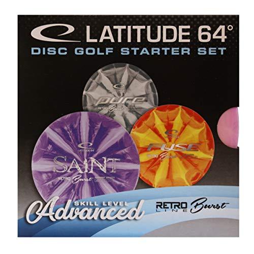 Latitude Disc Golf Einsteiger Starterset Retro Burst Advanced 3 Scheiben Putter Midrange Driver