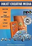 PPD A4 Inkjet (Jet d'encre) Creative Autocollants Vinyle Mat x 20 Feuilles PPD-38-20