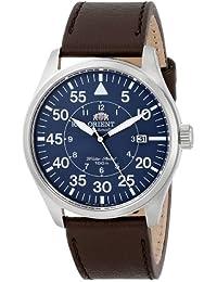 Orient 21-Reloj de pulsera estilo aviador con correa de piel marrón ER2A004D
