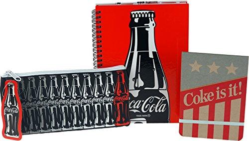 coca-cola-coke-3-pieces-ecole-kit-trousse-a-crayons-bloc-notes-carnet-a-couverture-rigide