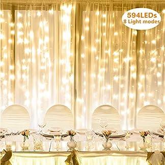 LE Cortina de Luces LED, Decoración de Fiestas, Luces de Navidad