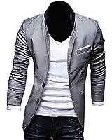 Neu Herren Slim Fit Stylish Sakko 3 Farben Blazer Freizeit Business Jacke Anzugsjacke Herren Slimfit Blazer Sakko Jacket Jacke Anzugsjacke