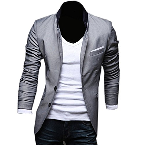 2014 Neu Herren Slim Fit Stylish Sakko 3 Farben Blazer Freizeit Business Jacke Anzugsjacke Herren Slimfit Blazer Sakko Jacket Jacke Anzugsjacke Jacket 2014 Slim Fit Jackets Pure Color Simple Casual Formal Suit Herren Cardigan Stylischer Slim Fit Herrenhemd Langarm Herrenkleidung Stilvolles Design Herrenjacke Blazer Herren Sakko Jacket Blazer Freizeit Jacke Slimfit Herren (Grau M)