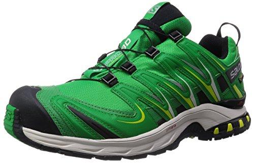 Salomon Homme XA Lite GTX, Black/Quiet Shade/Monument, Synthétique/Textile, Chaussures de Course à Pied et Trail Running, Taille 44.6 Grün (Fern Green/Light Grey -/Black)