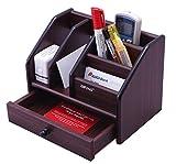 #7: NOVICZ Wooden Desktop Organizer for / Office Stationary Desk Organizer