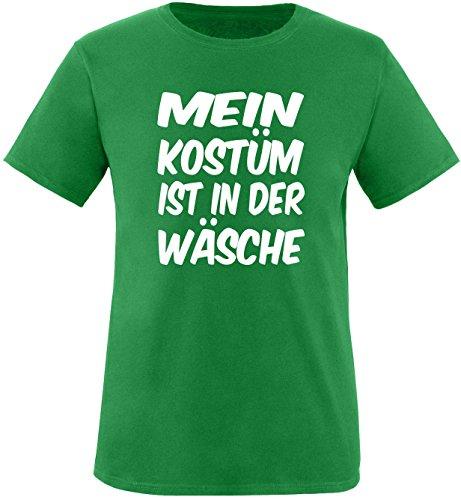 Luckja Mein Kostüm ist in der Wäsche Herren Rundhals T-Shirt Grün/Weiß