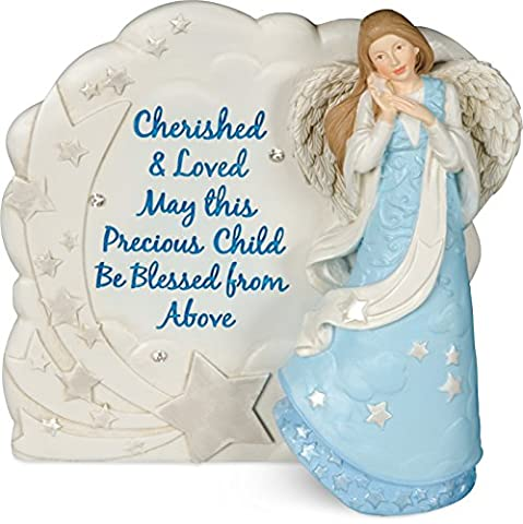 Angel Blessings Plaque - Boy, 4-1/4