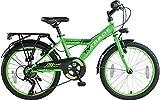"""20"""" 20 Zoll Kinder Jungen City Fahrrad Bike Rad Kinderfahrrad Citybike Cityfahrrad Kinderrad Cityrad 7 Gang TYT19-038 GRÜN"""