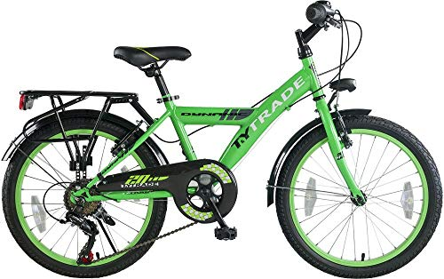 20 Zoll Kinder City Fahrrad Bike Rad Kinderfahrrad Citybike Cityfahrrad Cityrad Dynamic 7 Shimano Gang GRÜN TYT19-038 (Fahrrad 20)