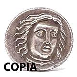 Kopieren Münze Kollektion Replica Antike Krieger mit Axt und Lancia