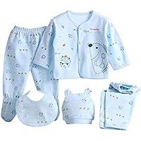 Per 5 piezas Conjuntos de ropa para bebé Canastilla de algodón Ropa interior Regalo para Recién