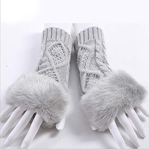 Adroit Shocking Show Men Black Knitted Stretch Elastic Warm Half Finger Fingerless Gloves #11 Men's Gloves