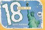 Geburtstagskarte Enlich 18 - Zum 18. Geburtstag - Moments