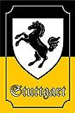 Stadtwappen Stuttgart schild aus blech, nostalgie, historiches stadt