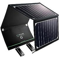 RAVPower 16W Solar Ladegerät mit 2 iSmart-USB-Port Outdoor Charger Wasserdichte Solarpanel mit 21,5-23,5% Umwandlungseffizienz, leicht und faltbar für Camping Wanderung Bergsteigerei für iPhone, iPad, Samsung, HTC, Kindle, Lautsprecher und mehr