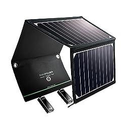 Mehr Effizienz, mehr Strom Dank den Solarzellen, können Sie sich auf eine Umwandlungsrate von Sonnenlicht von bis zu 23,5 % freuen. Holen Sie sich so viel Energie wie möglich, wenn Sie unterwegs sind am sonnigen Tag oder bei Bewölkung. Schließen Sie ...