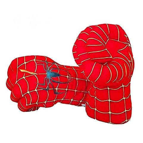 Guizen Superheld Plüsch Boxhandschuhe Cosplay Kostüm Weiche Spielzeug Hände für Geburtstag Weihnachten Halloween Geschenk-Spiderman Smash Hands (1 Paar)