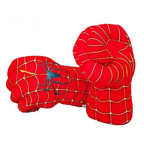 Guizen Spiderman Handschuhe, Superheld Plüsch Boxhandschuhe Spiderman Faust Cosplay Kostüm Hände für Geburtstag Weihnachten Halloween Geschenk (1 ()